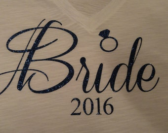 Bride iron-on decal - Decal Only Bachelorette Wedding Party. DIY bridal shirt