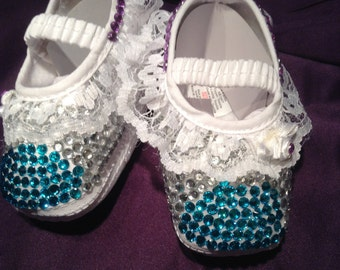 stunning snow fairy cozy pram shoes 0\3mnths