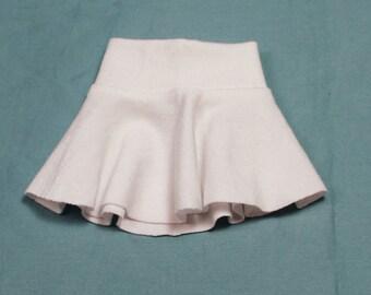 BJD Unoa/MSD white jersey skirt.