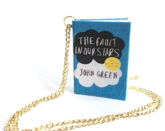 Miniature The Fault In Our Stars Book Necklace