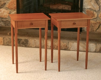 Shaker End Tables In Cherry, Night Stands, Bedroom Table, Living Room Table,