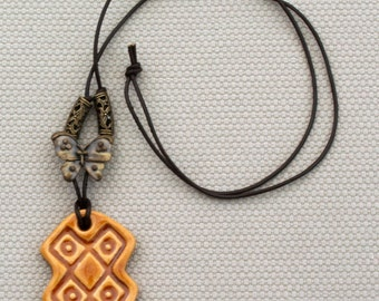 ceramic pendant with necklace ethnic series africa