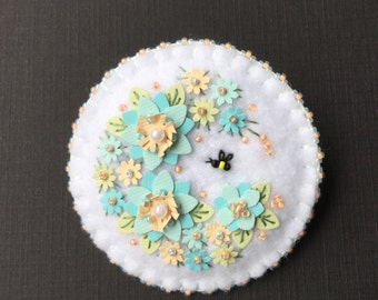 Felt and Paper Brooch