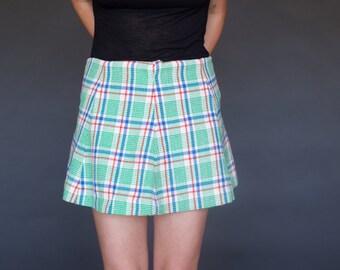 60's Plaid Skirt