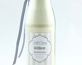 Bread mix for Grill bread, bread baking mix in the bottle, ideal as a gift, gifts