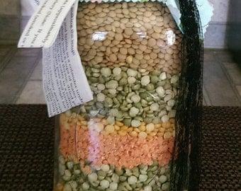 Large Split Pea Soup Mason Jar w/recipe