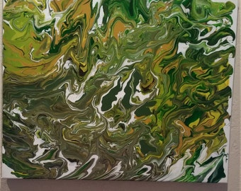 Poured Abstract Canvases
