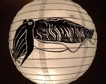 Hand Painted Paper lantern Cuttlefish
