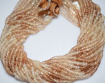 Good Quality Shaded Imperial Topaz Rondelle Beads 13 Inch Strand ,Shaded Imperial Topaz Faceted Rondelle Beads , 3-3.5mm - MC020
