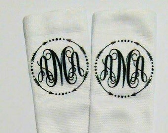 Custom Monogram Socks - Gifts Under 10 - Christmas Gift - Holiday Gift- Womens Socks - Crew Socks - Stocking Stuffers -