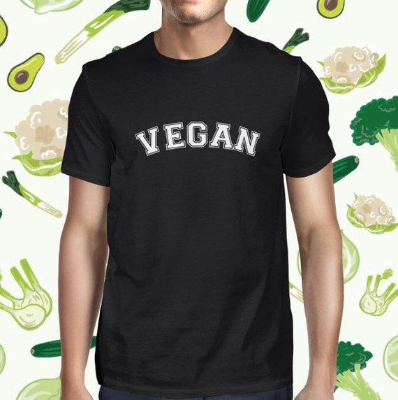 Animal Lover Vegan Statement T-shirt for Men - Male Casual Vegan Shirt - Vegan Varsity Men's Shirt - Animal Rights T Shirt - Cruelty-free T