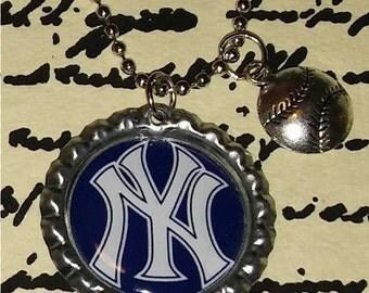 New York Yankees Baseball Necklace