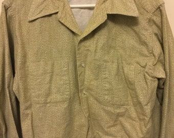 1960's White/Yellow Men's Shirt