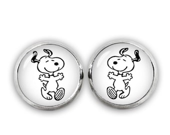 Cute Snoopy Stud Earrings Snoopy Jewelry Geeky Fangirl Fanboy Christmas Gift
