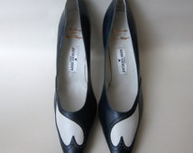 Haute Couture shoes leather 1960 Jean changes for Jacques HEIM 40