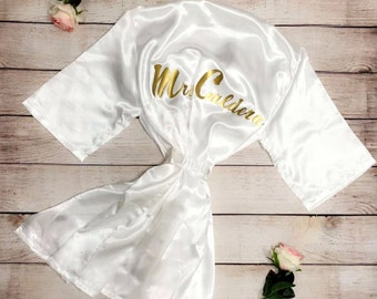 Wedding Robe For Bride And Bridesmaids, Bridal Party Robes For Bride To Be, Personalized