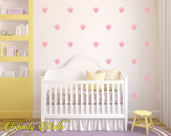 crown wall decals set of 50 princess crown decal set crown pattern
