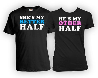 His And Her Shirts Couple T Shirts Matching TShirts Couple Clothes Just Married Gifts Relationship Shirts Mens Ladies Tee FAT-437-438