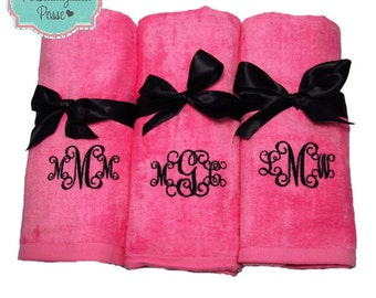 Personalized Beach Towel, Custom Embroidered Beach Towel, Monogrammed Beach Towels