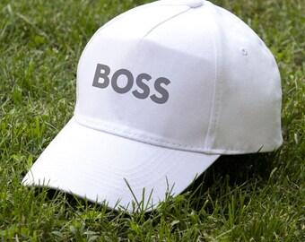 Boss Mens Caps Cap For Boys Man Baseball Caps Gift For Boy White Cap Gift For Boss Men Hats Dad Hat Gift For Dad Dad Cap Unisex Cap PA2003