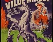 Northwest Stampede (1948) Vintage 1952 Danish Movie Poster - Joan Leslie & Jack Oakie - FREE U.S. SHIPPING