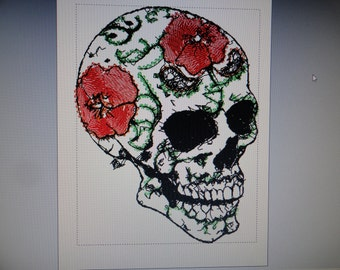 Sotis FlowerSkull: a file for the frame size 13 x 18