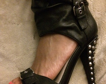 """Silver Plated ANKLET """" MFMF Symbols """" Swinger Lifestyle Jewelry, Foursome, Hotwife, Queen of Spades, BBC, Fetish, Cuckold, Slut, Slave"""