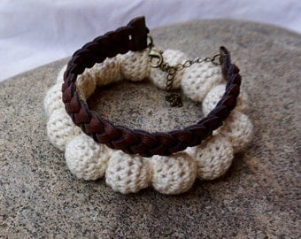 Double Leather and Crochet