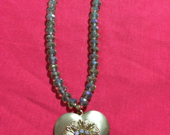 Jewelry Necklace -  Gold heart pendant locket necklace FREE SHIPPING