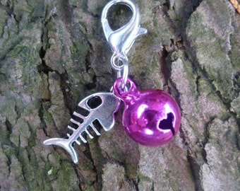 Cat Collar Charm, Clip on Collar Charm, Cat Bell, Cat Jewellery, Gift for Pet, Pet Acessories, Cat Lover, Pet Birthday Gift