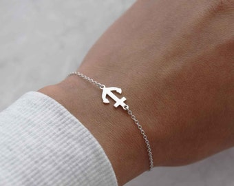 Sterling anchor bracelet, anchor bracelet, simple bracelet, bracelet, silver bracelet, girlfriend gift, sister gift, simple bracelet