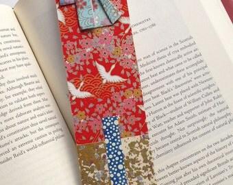 Kimono Bookmark (blue flower)
