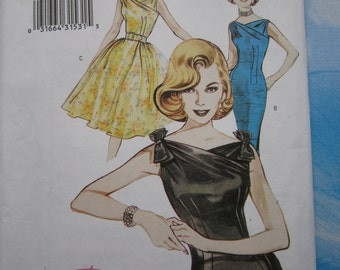 Butterick 6582 Reproduction 1960 Dress Sewing Pattern 18-22