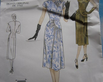Vogue Vintage 2787 Reproduction 1948 Dress Sewing Pattern 18-22
