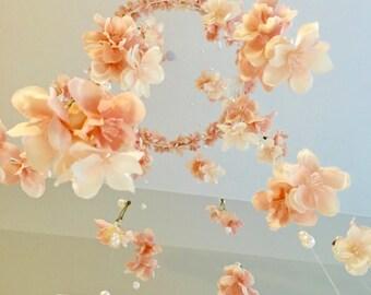 Handmade Floral & Pearl Mobile