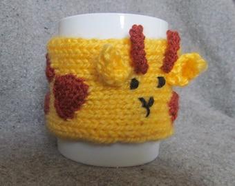 Animal Mug Cosy Knitted   Giraffe  