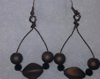 Bronze Twisted Wire Hoop Earrings