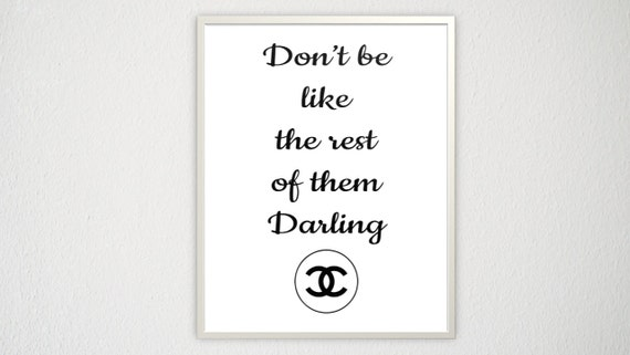 Coco Chanel Quote Cubicle Wall Art Girly Poster By