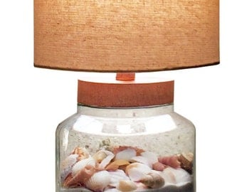 Sand & Seashell Lamp