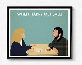 When Harry Met Sally Poster, Minimalist Print