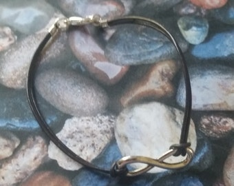 Infinity Brown Leather Bracelet