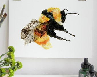 Great Yellow Bumble Bee Print