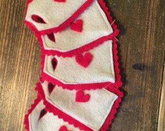 Felt Heart Gift Tags (set of 5)