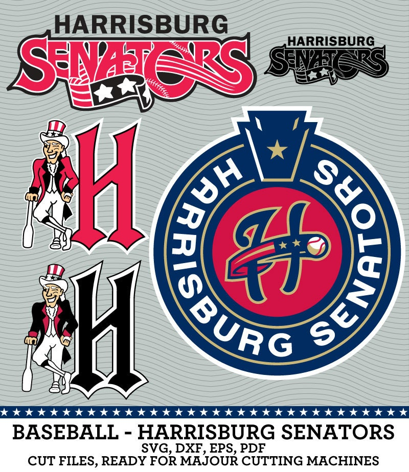 Harrisburg Senators 0 Free Vector In Encapsulated: Harrisburg Senators Baseball Logo SVG Dxf Eps By
