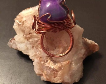 Copper Wrapped Ring - Size 7