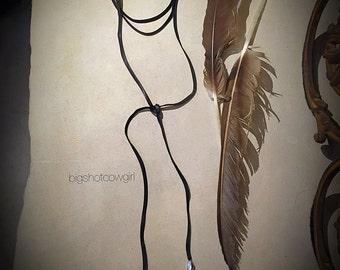 Lariat Choker Necklace - leather - bigshotcowgirl