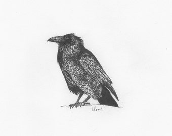 The Raven - Giclée Print (A5)