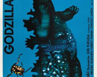 LARGE SIZE Vintage Movie Poster Godzilla Kontra Gigan Japanese / Geeky Poster / Big Poster / Big Print / Large Poster / Large Print /
