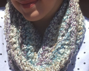 Multi Crochet Colored Infinity Scarf