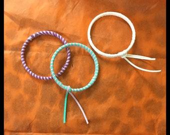 Multi Color Faux Suede bracelets